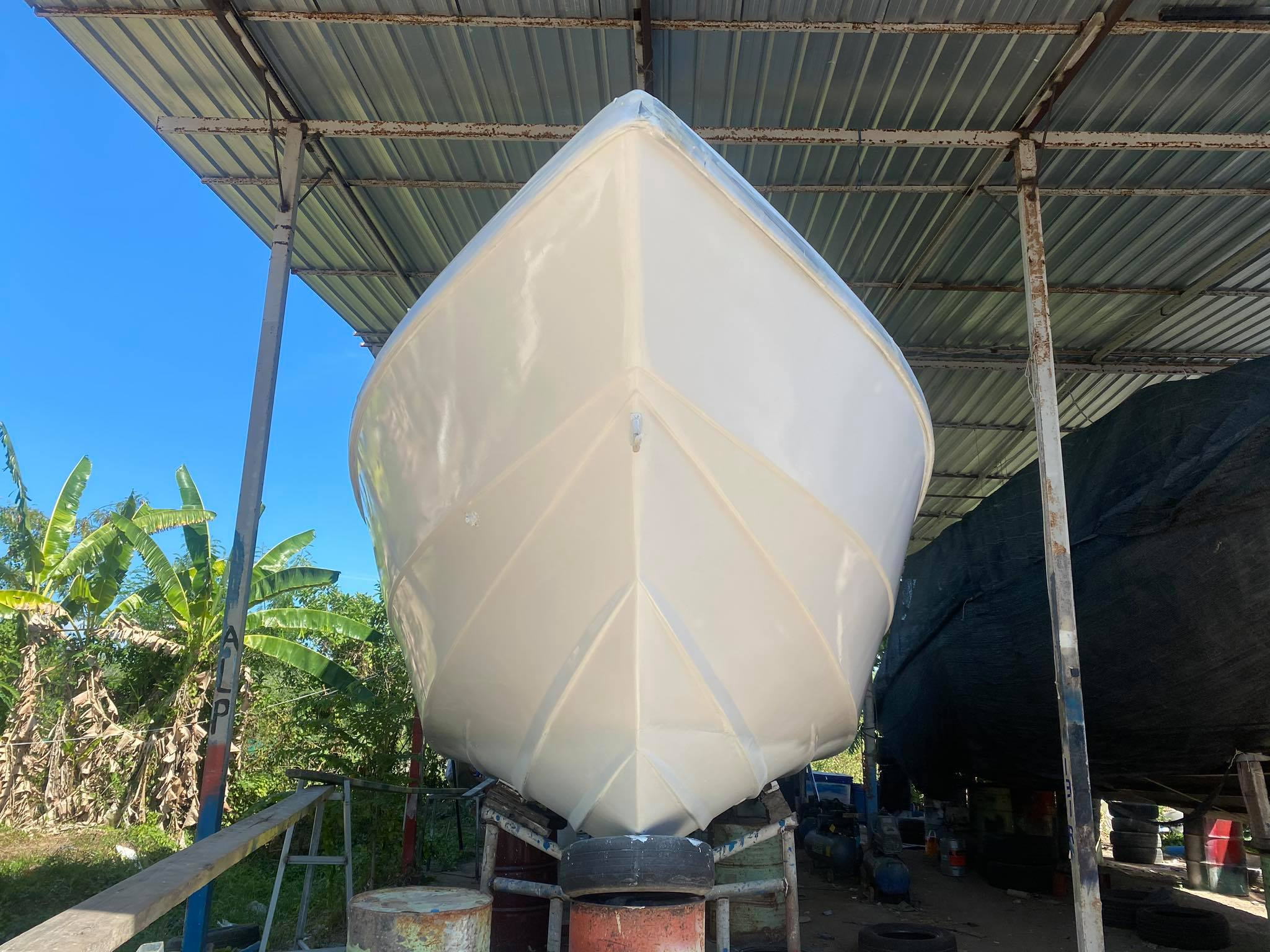 private boat lucus 1 renovation and covid-19 deep cleaning