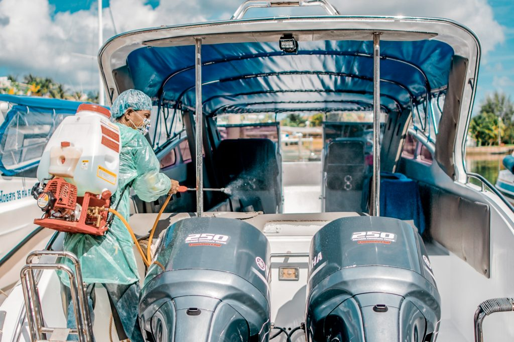 boat disinfecting