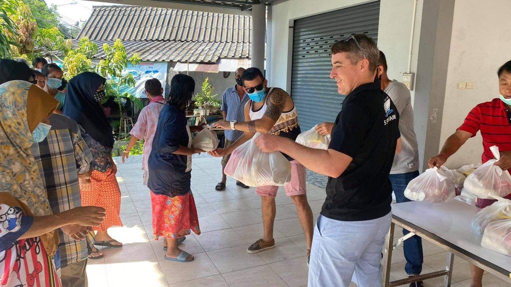 shaun giving life bags