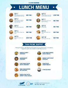 5 star marine picnic menu